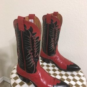 RED NOCONA WESTERN BOOTS 7.5 C
